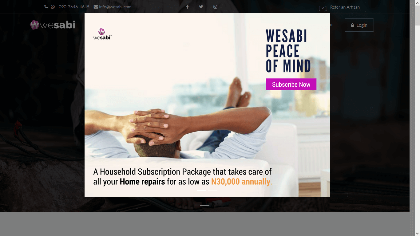 Wesabi Website