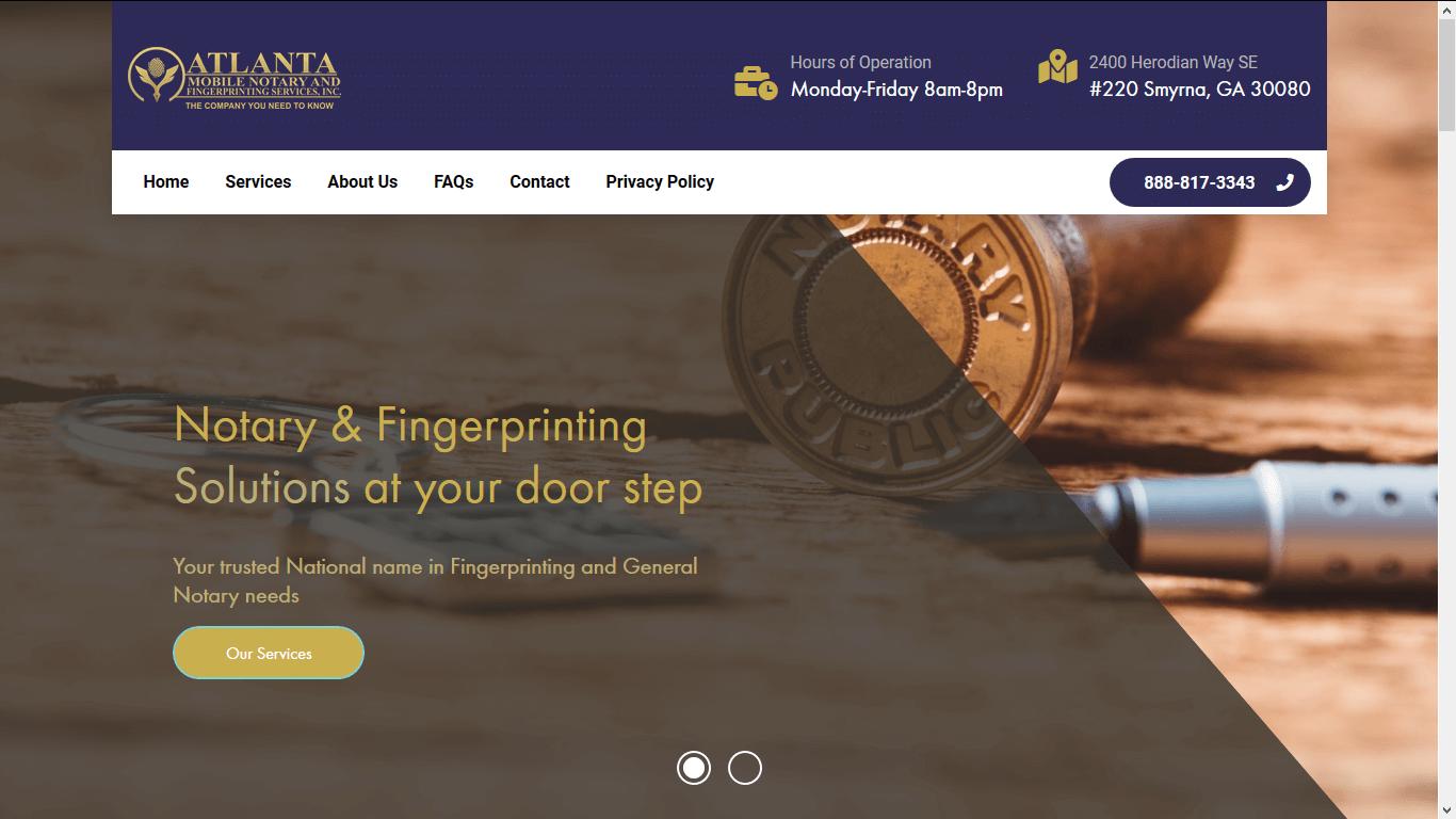 Atlanta Mobile Notary Public Website