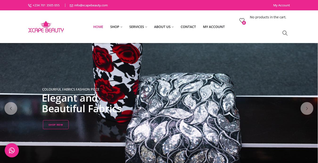 Xcape Beauty Website